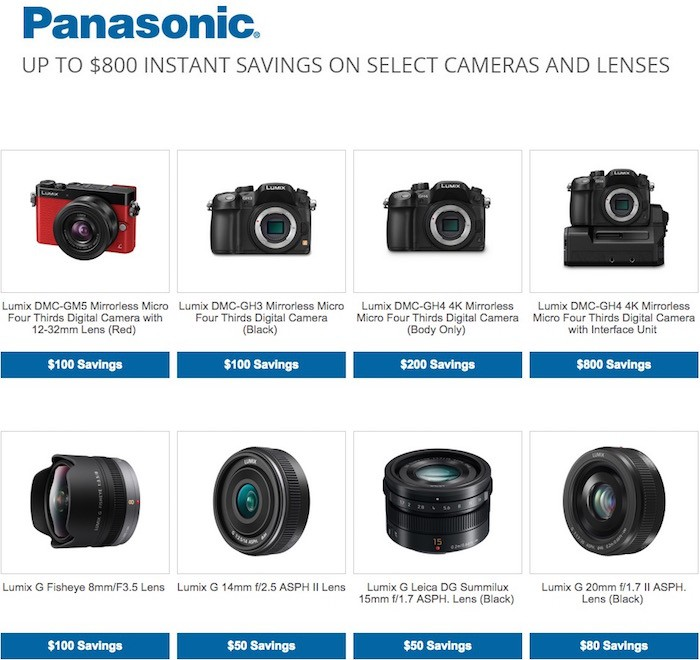 Panasonic Instant Rebates Feb 2015