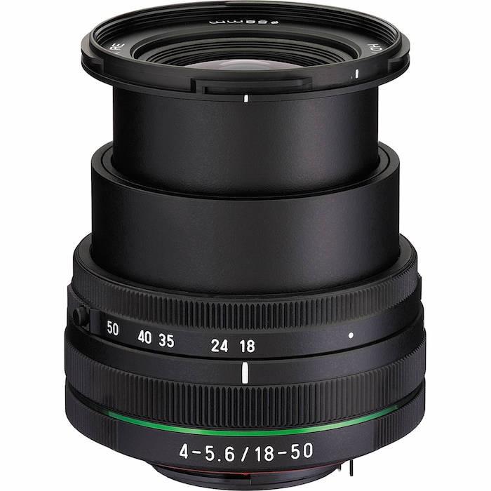Pentax HD DA 18-50mm f4-5.6 Lens Extended