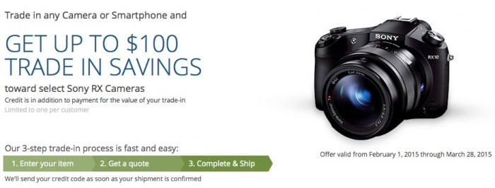 Sony RX10 RX100 Trade-in Deal