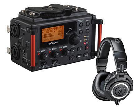 Tascam DR-60DmkII Audio Technica ATH-M50x