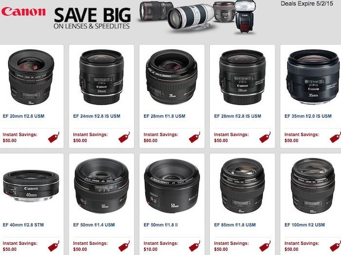 Canon Lenses Rebates