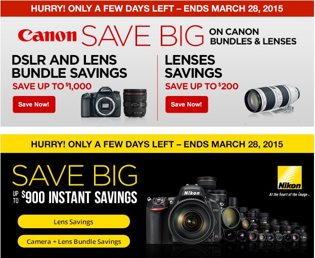 Canon and Nikon Rebates Ending Soon