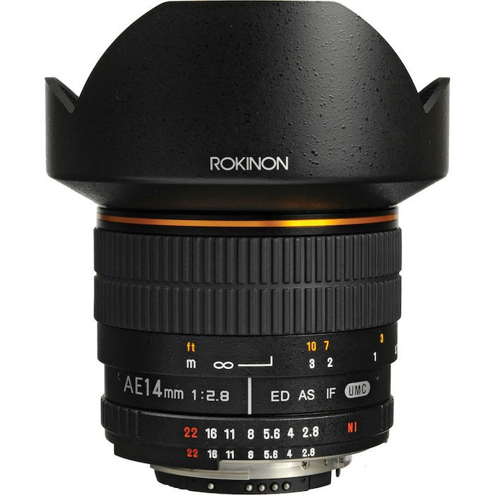 Rokinon 14mm f2.8 Lens for Nikon with Focus Confirm Chip