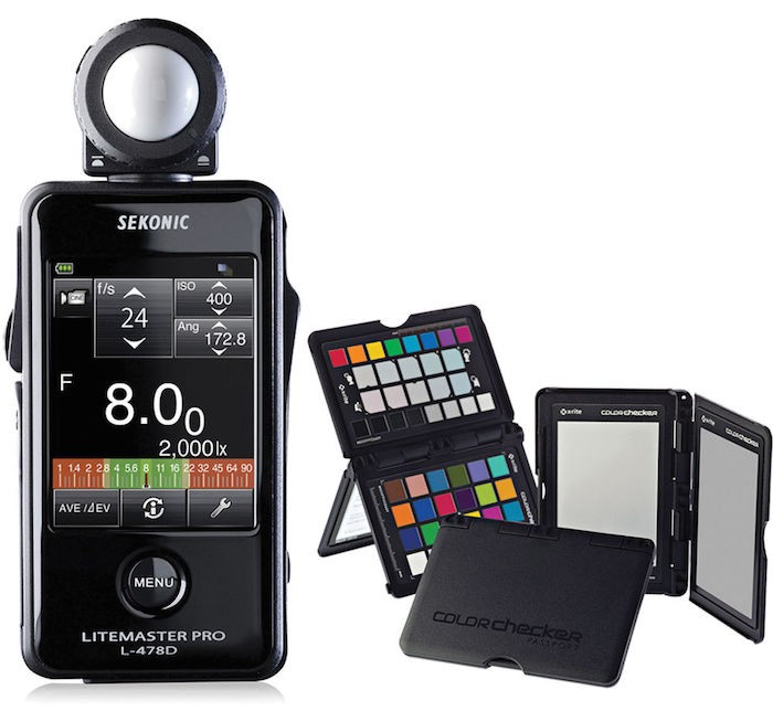 Sekonic Litemaster Pro L-478D and X-Rite ColorChecker Passport