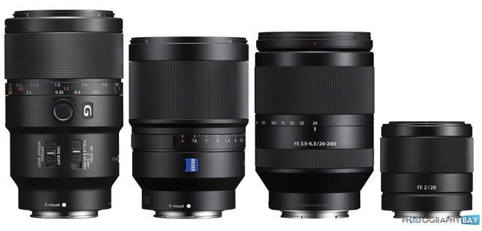 Sony Announces 4 New Full Frame Lenses