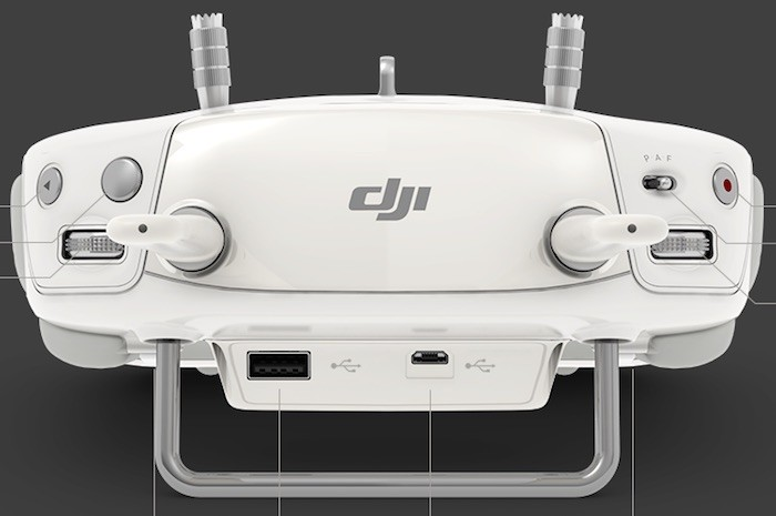 DJI Phantom 3 Remote top