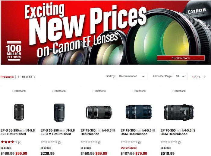 Canon Refurbished Deals May 2015