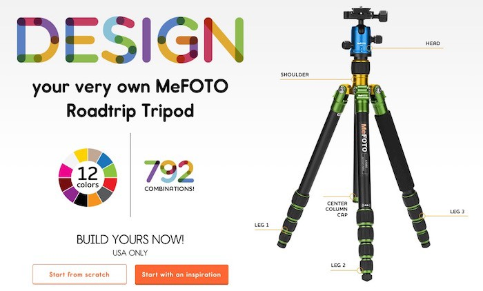 MeFOTO Customizable Tripod
