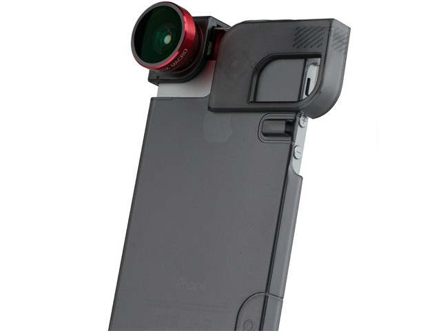 iPhone 5s Case with the flippy thing to mount your lens.