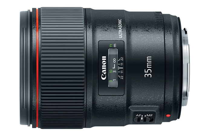 Canon EF 35mm f1.4L II USM Lens side