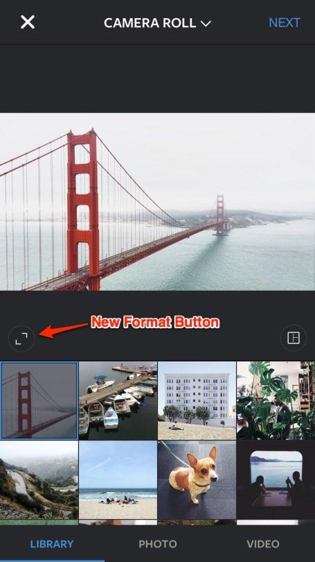Instagram Format Button 2