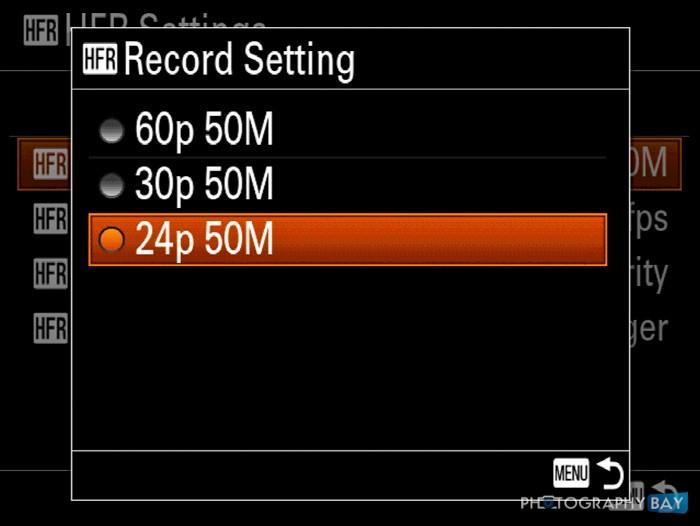Sony RX100 IV HFR Menu-2