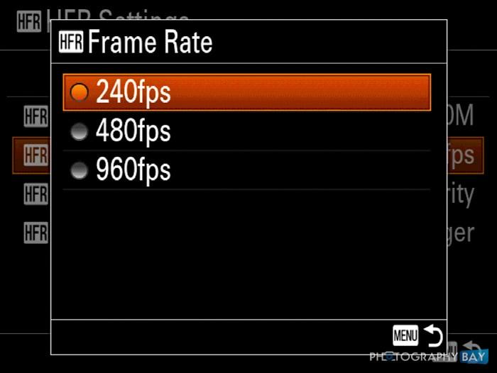 Sony RX100 IV HFR Menu-3