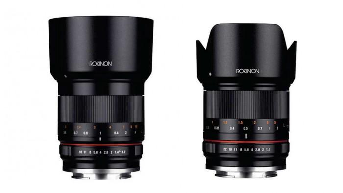 TSrokinon 50mm 1.2 and 21mm 1.4