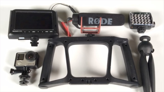 iOgrapher GO is a Grip and Rig for GoPro and Other Action Cams