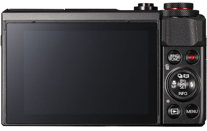 Canon PowerShot G7 X Mark II back