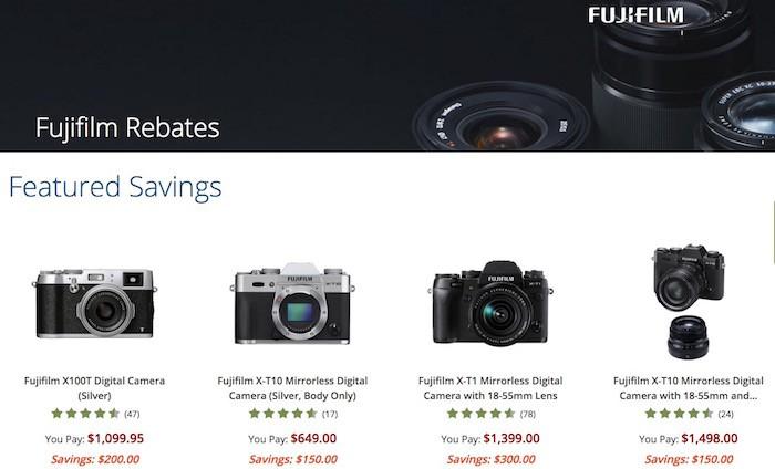 Fuji X-Series Rebates February 2016