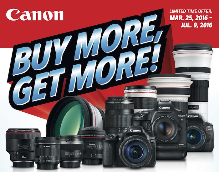 Canon Buy More Get More Spring 2016
