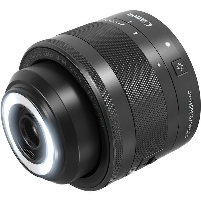 Canon EF-M 28mm f3.5 Macro IS STM lens light