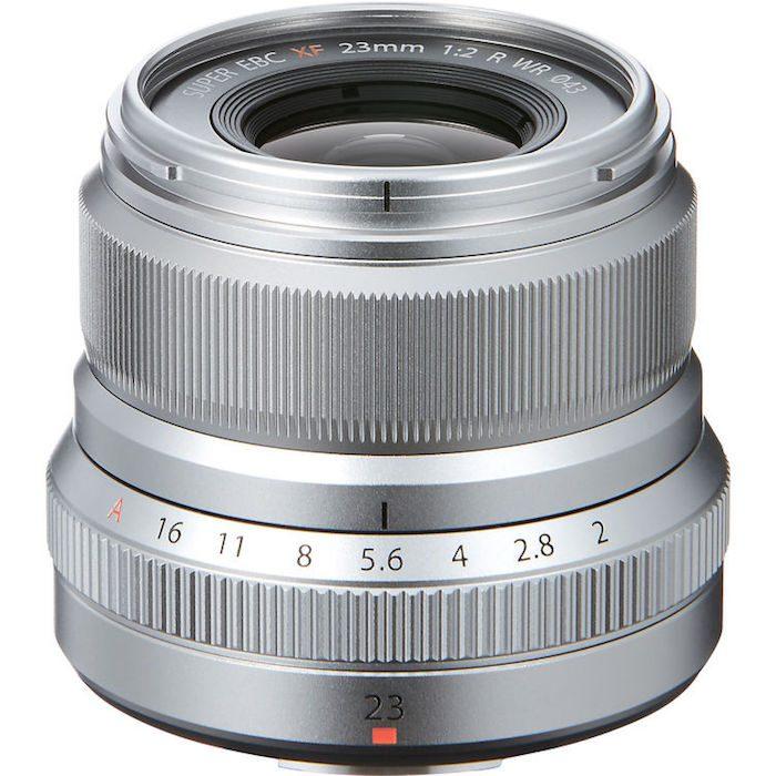 Fuji XF 23mm f2 R WR Lens silver