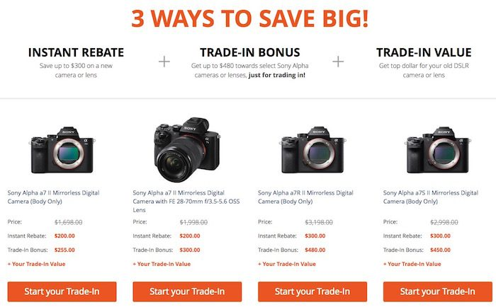 Sony A7 Trade-In Deal 2017