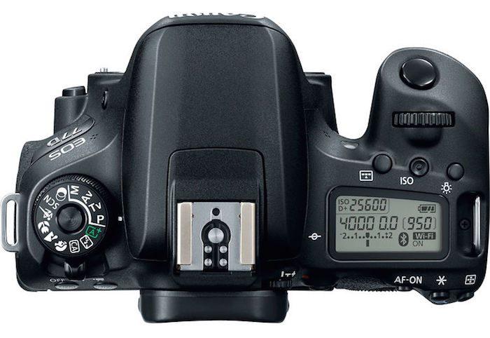 Canon 77D top