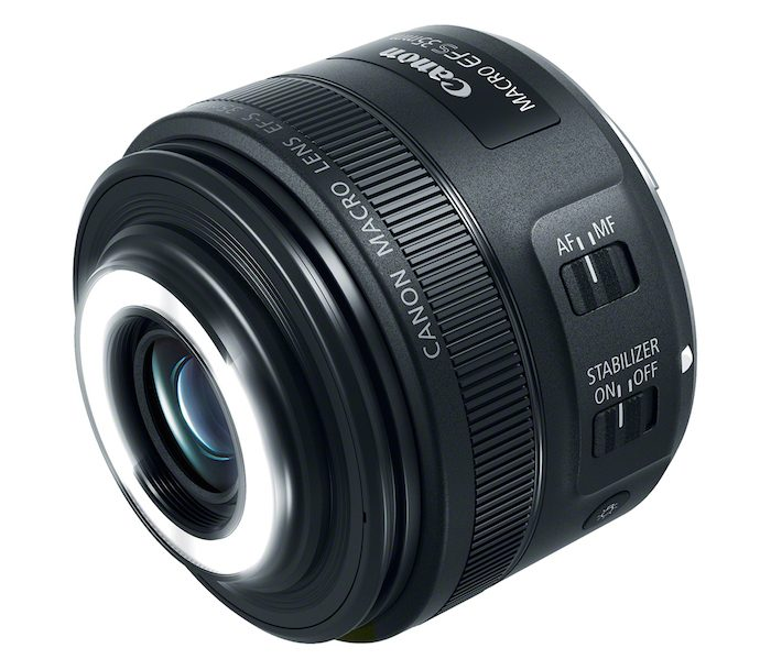 Canon EF-S 35mm f2.8 Macro IS STM Lens lights