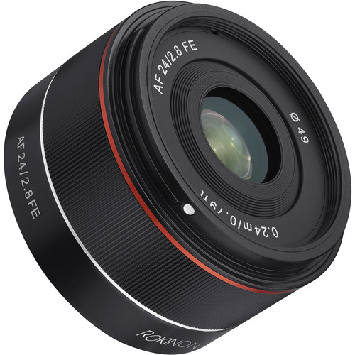 Rokinon AF 24mm f/2.8 FE Lens Now Shipping